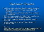 blackwater situation