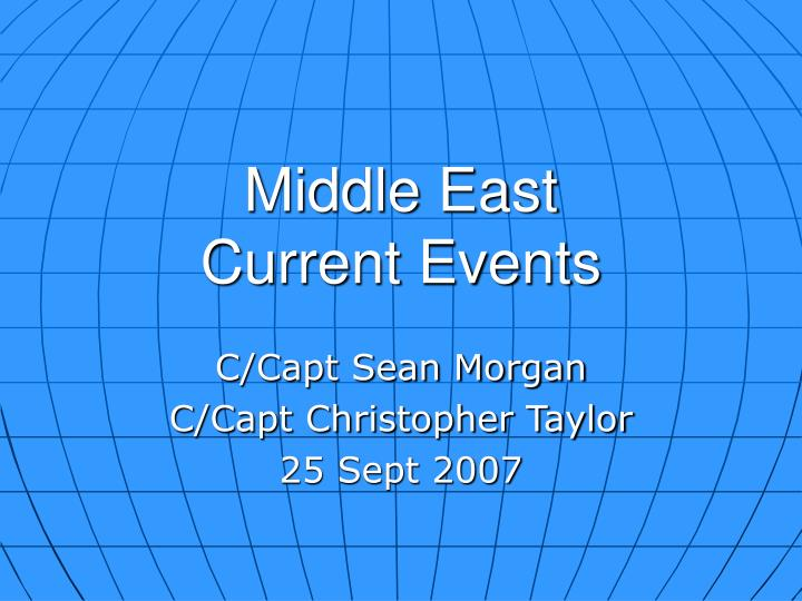 middle east current events