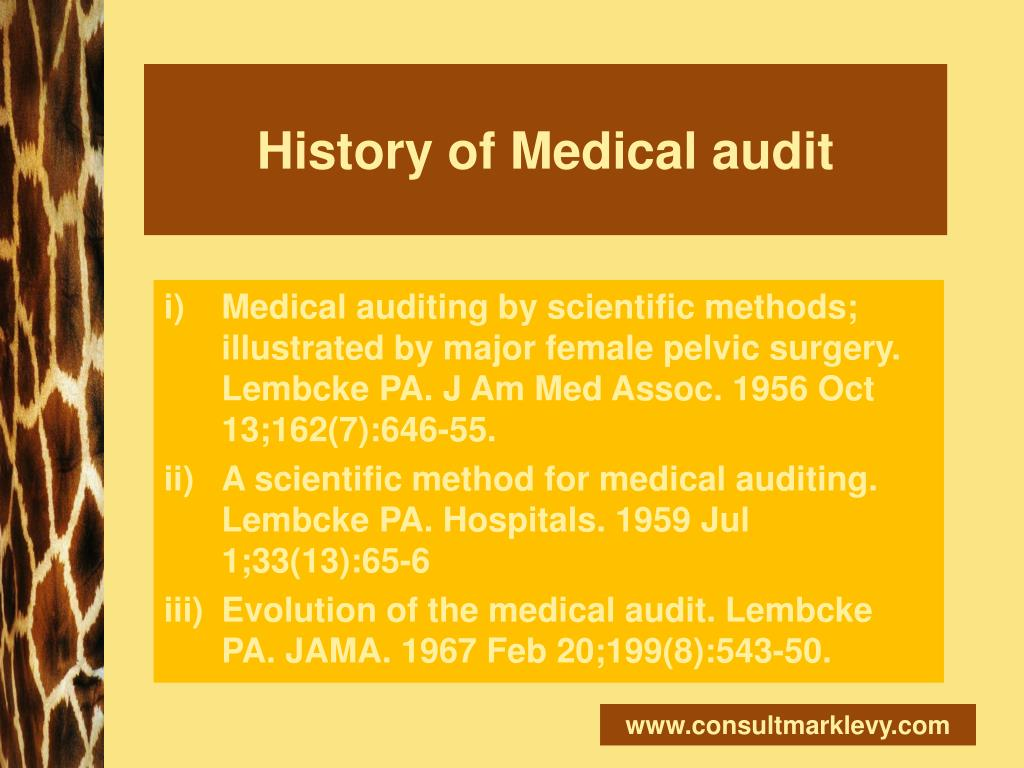 History of Medical audit