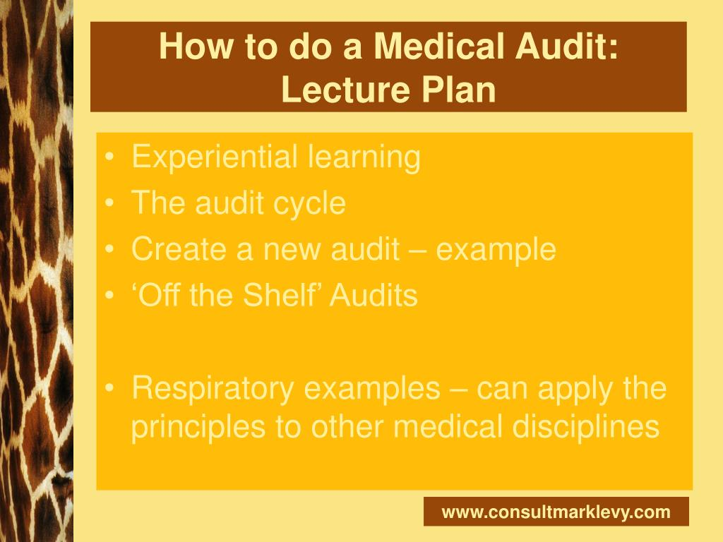 How to do a Medical Audit: