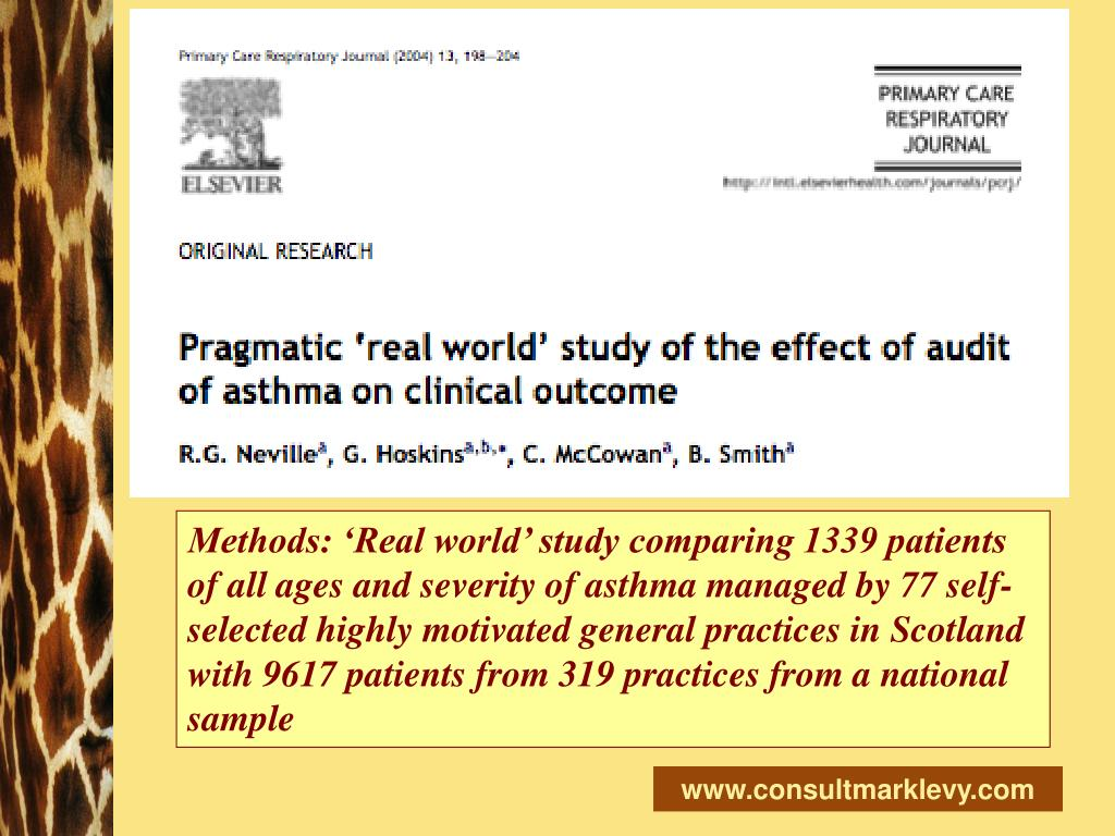 Methods: 'Real world' study comparing 1339 patients of all ages and severity of asthma managed by 77 self-selected highly motivated general practices in Scotland with 9617 patients from 319 practices from a national sample