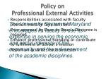 policy on professional external activities