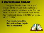 1 corinthians 7 26 27