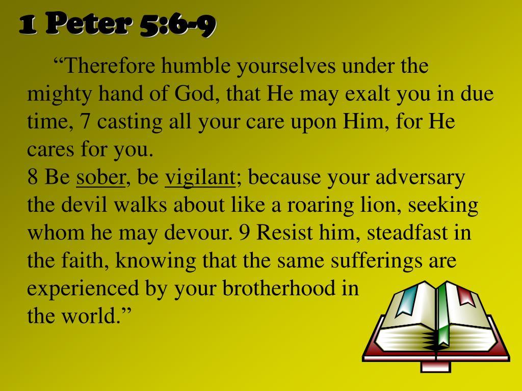 1 Peter 5:6-9