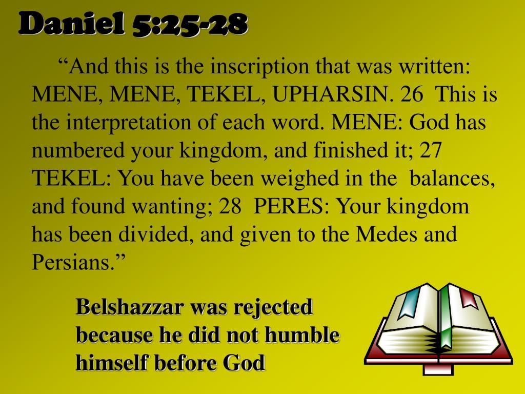 Daniel 5:25-28