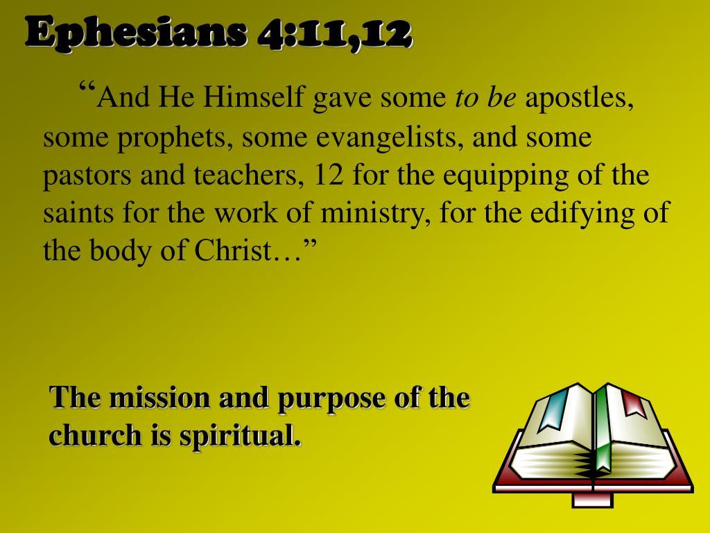 Ephesians 4:11,12