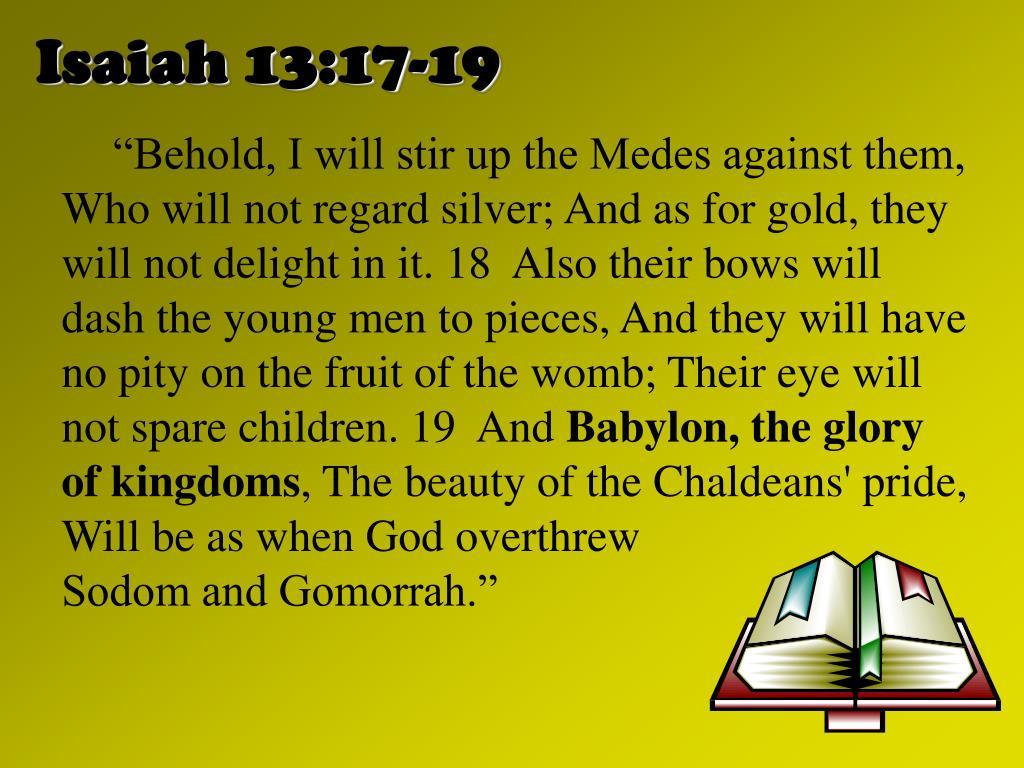Isaiah 13:17-19
