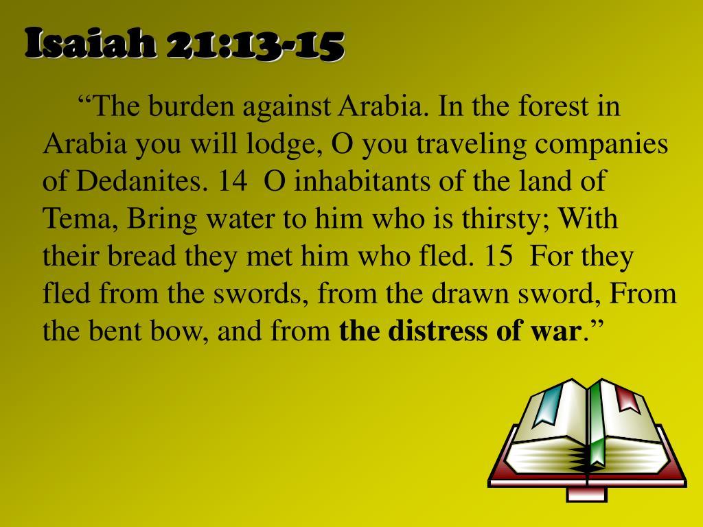Isaiah 21:13-15