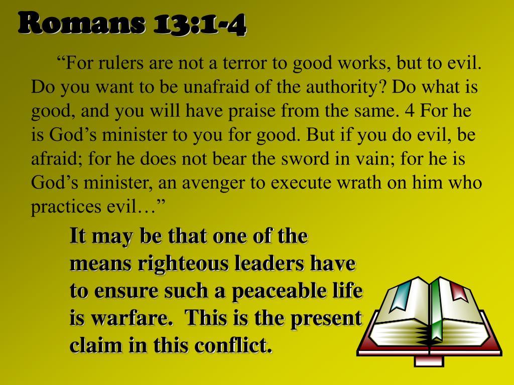 Romans 13:1-4