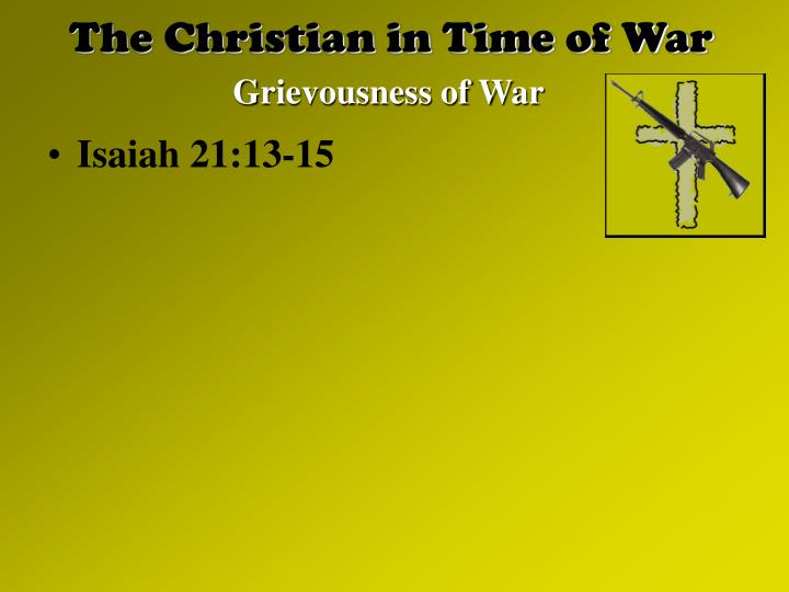 The christian in time of war2