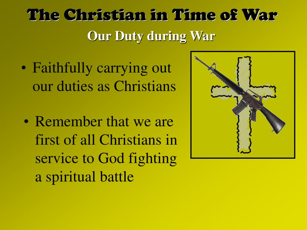 The Christian in Time of War