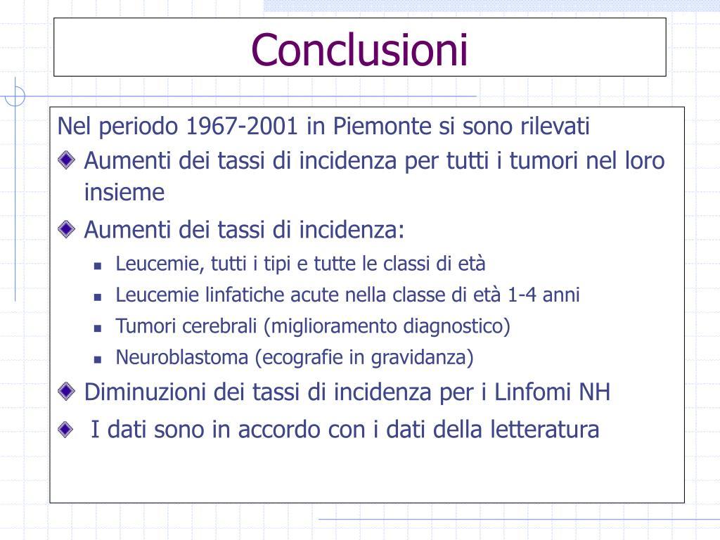 Nel periodo 1967-2001 in Piemonte si sono rilevati