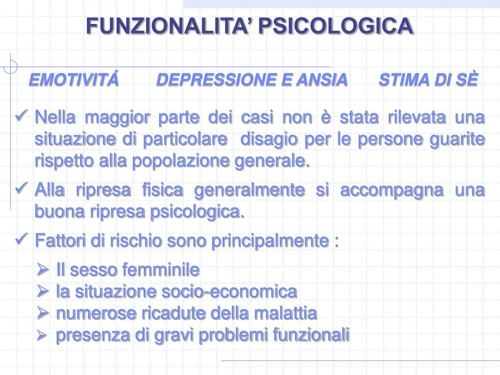 FUNZIONALITA' PSICOLOGICA