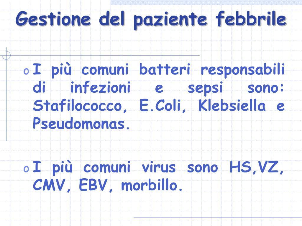 Gestione del paziente febbrile