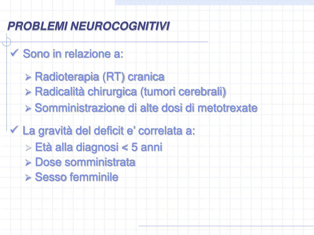 PROBLEMI NEUROCOGNITIVI