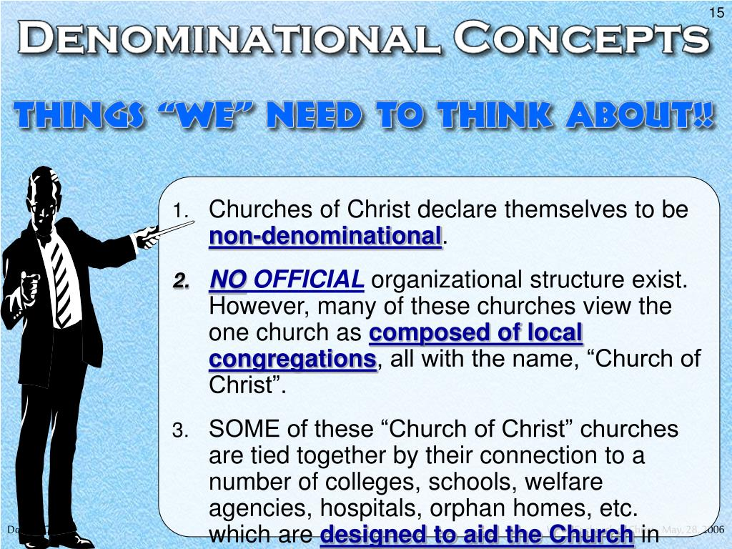 Churches of Christ declare themselves to be
