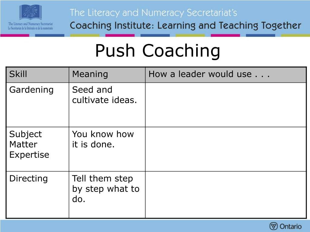 Push Coaching
