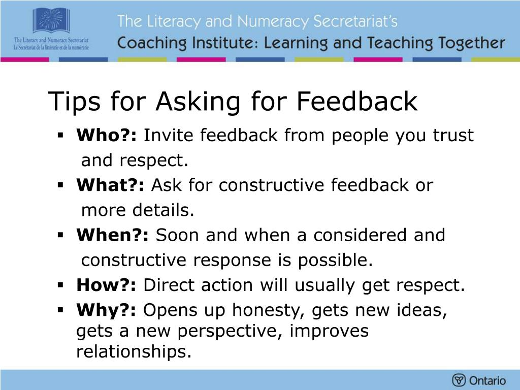 Tips for Asking for Feedback
