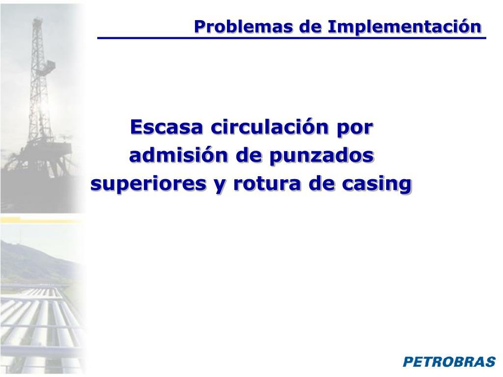 Problemas de Implementación
