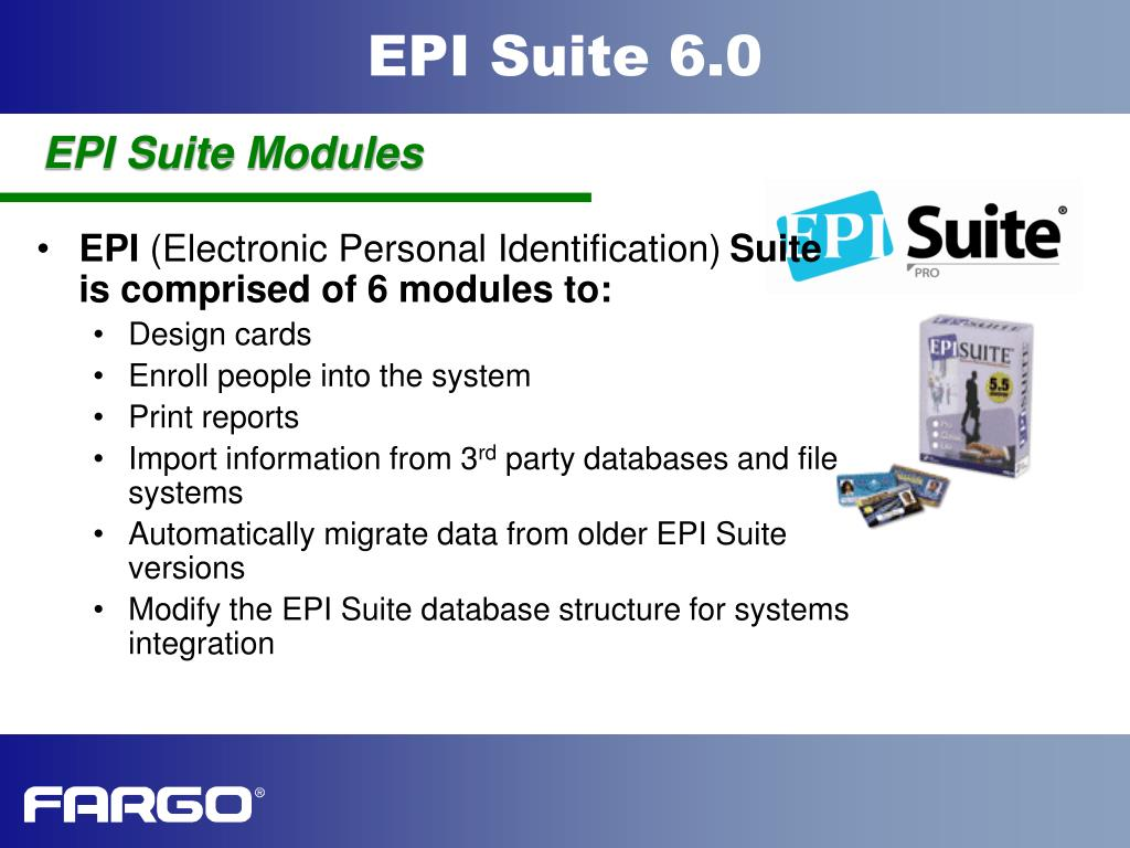 EPI Suite Modules