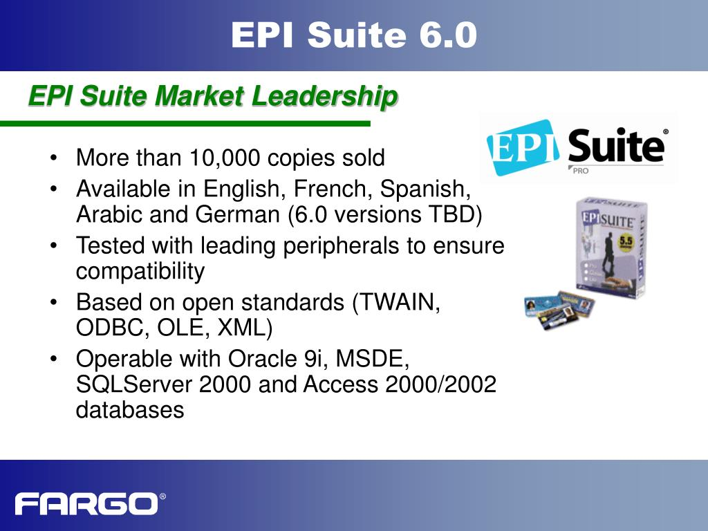 EPI Suite Market Leadership