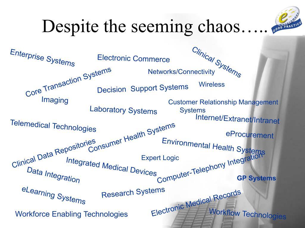 Despite the seeming chaos…..