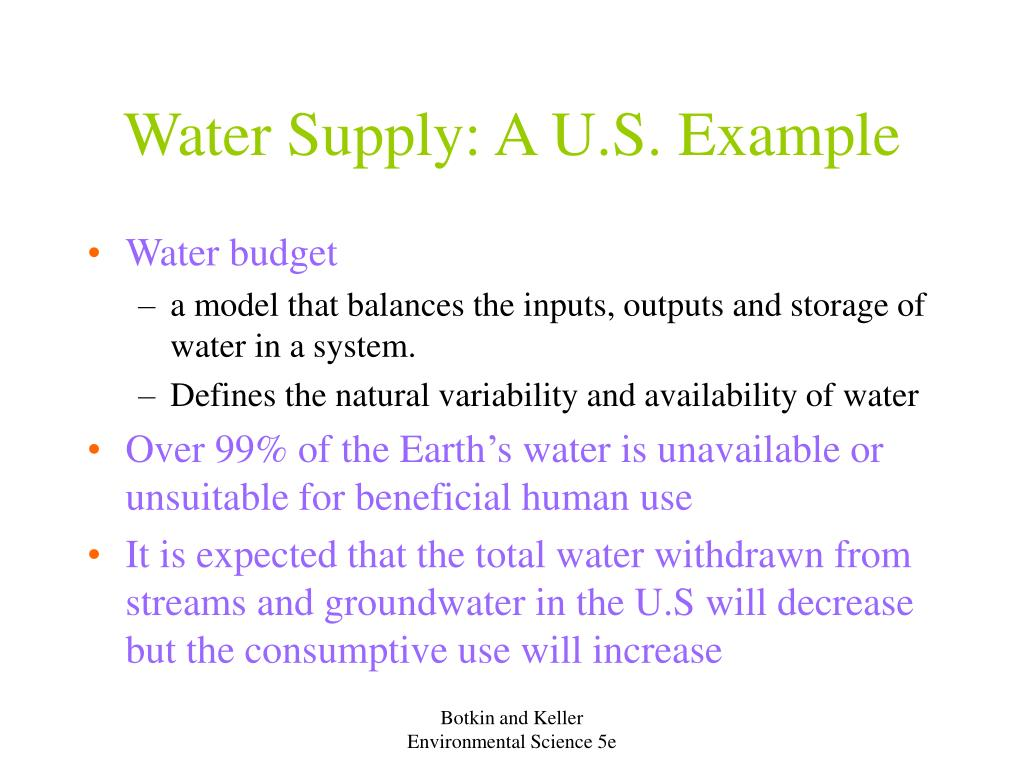 Water Supply: A U.S. Example