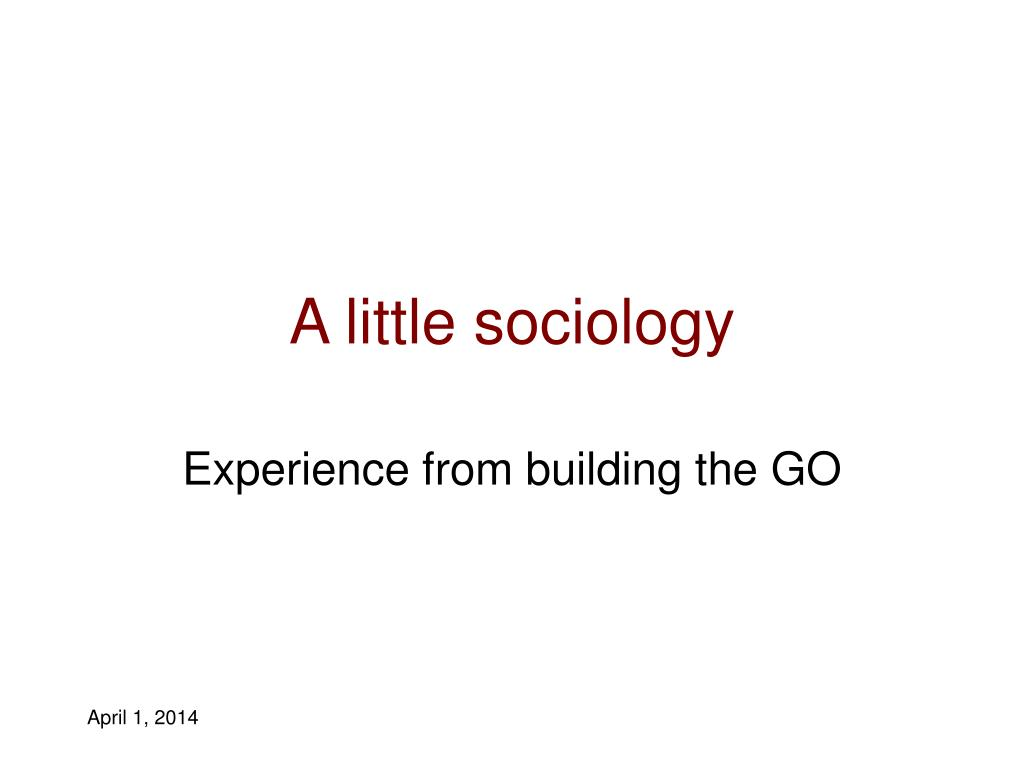 A little sociology