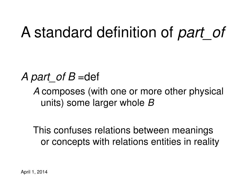 A standard definition of