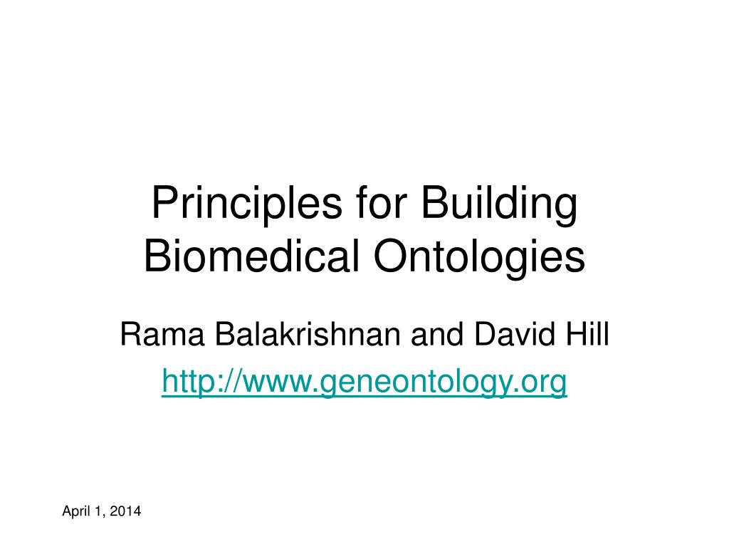 Principles for Building Biomedical Ontologies