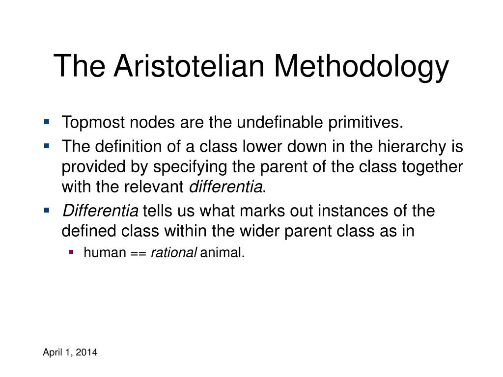 The Aristotelian Methodology