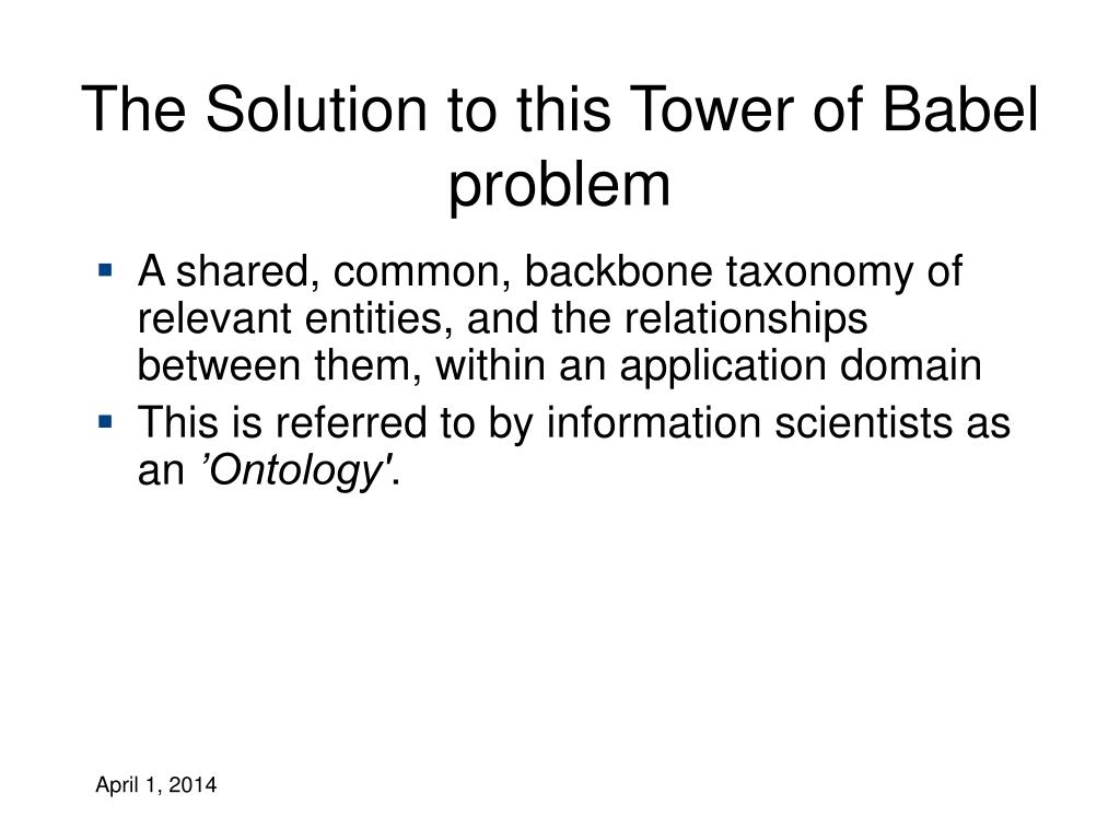 The Solution to this Tower of Babel problem