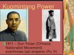 kuomintang power