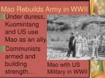 mao rebuilds army in wwii