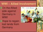 wwi allied involvement