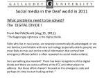 social media in the deaf world in 201111