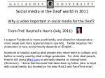 social media in the deaf world in 20114