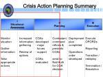 crisis action planning summary