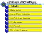 joint operation planning process similar to army military decision making process amdmp