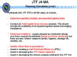 jtf j4 ma planning checklists cont
