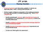 jtf j4 ma planning checklists