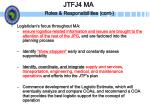 jtfj4 ma roles responsibilities cont