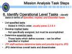 mission analysis task steps20