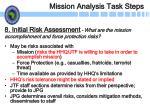 mission analysis task steps22