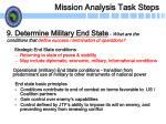 mission analysis task steps23