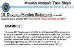 mission analysis task steps24