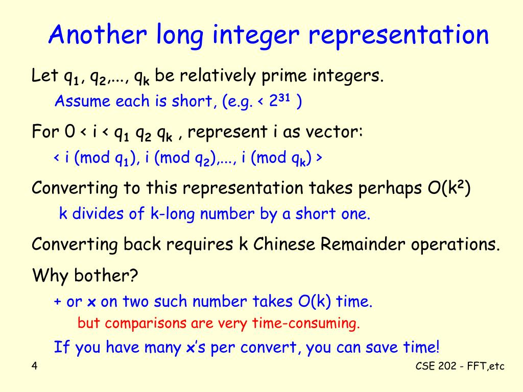 Another long integer representation