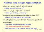 another long integer representation