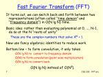 fast fourier transform fft