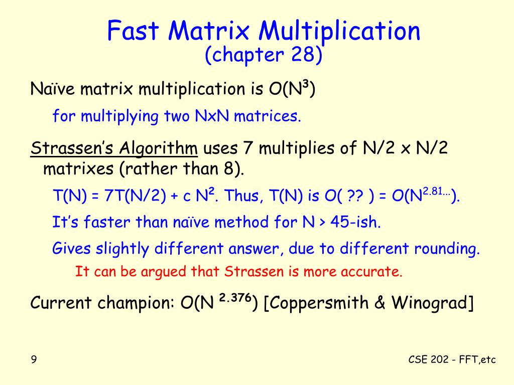Fast Matrix Multiplication